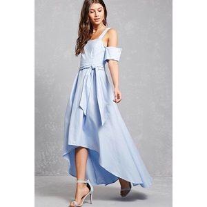 Open-Shoulder High-Low Dress
